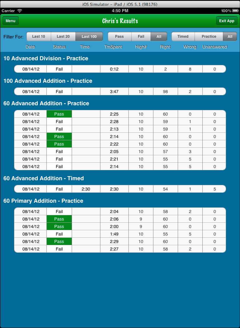 EBS - Mathfacts App